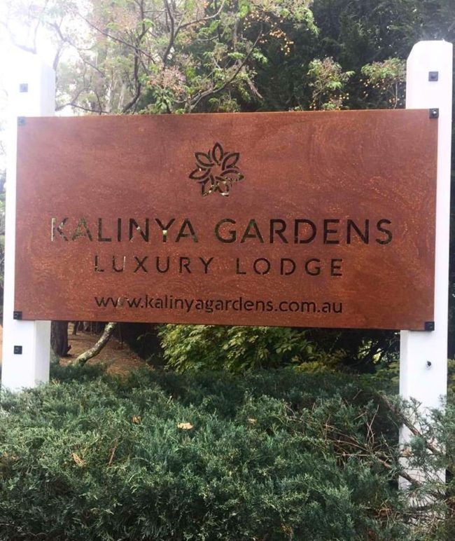 Kalinya Gardens - Signage by Ironbark Metal Design