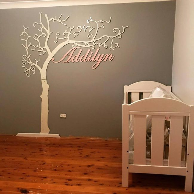 Baby Room Signage by Ironbark Metal Design