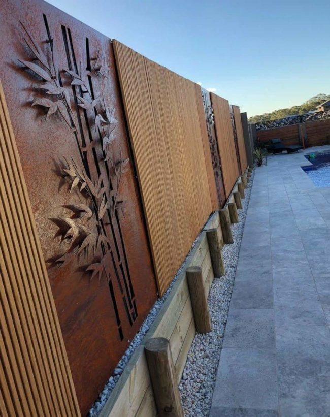 3D Bamboo Screen by Ironbark Metal Design