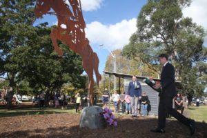 Albion Park RSL - Light Horseman Sculpture by Ironbark Metal Design