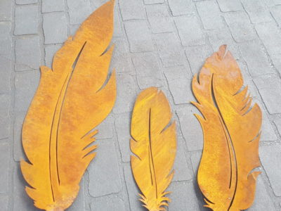 3 x Feathers set by Ironbark Metal Design
