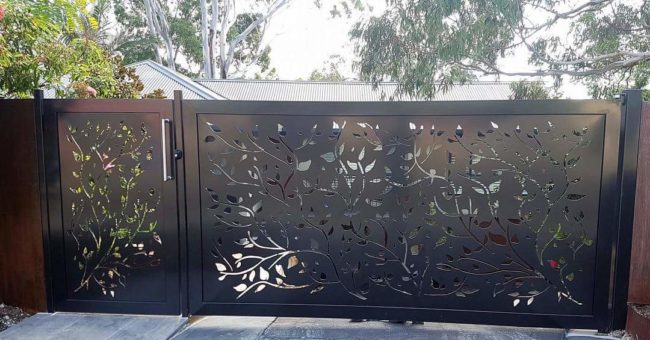 Decorative Screen Gate - Vine Pattern by Ironbark Metal Design