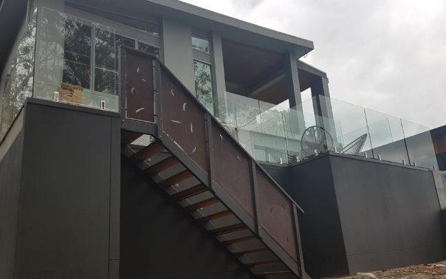 Stair Balustrade by Ironbark Metal Design
