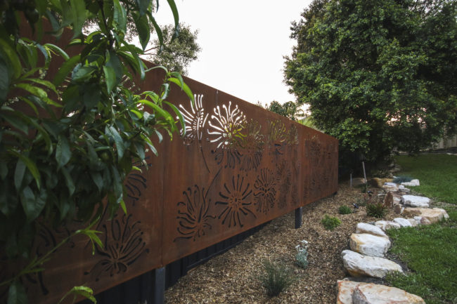 Firewheel Privacy Screen by Ironbark Metal Design
