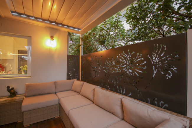 Firewheel Privacy Screen (Powdercoated) by Ironbark Metal Design