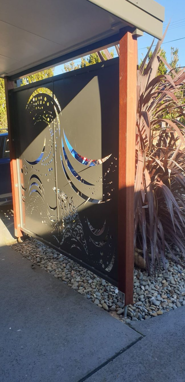 Wave Privacy Screen by Ironbark Metal Design
