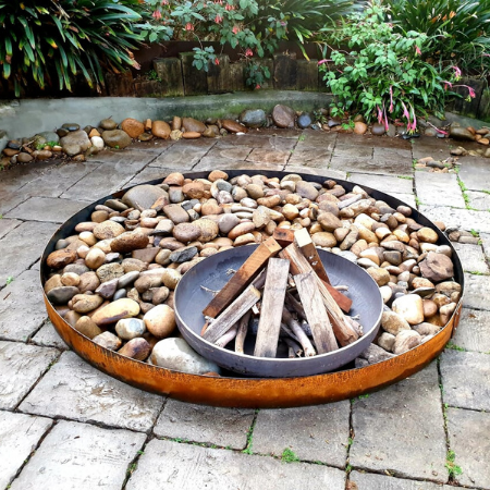 Luna Firebowl with Steel Ring