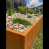 Corten Steel Garden Edging with Top Fold- Albion Park