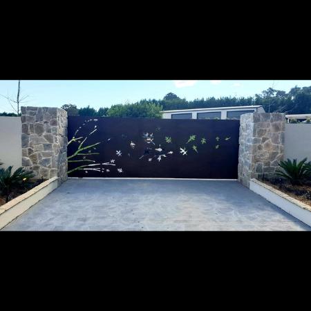 Custom Corten Steel Automated Gate- Glenorie