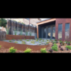 Custom House Sign, Corten Steel Garden Edging & Planters with Lace Leaf Sculpture- Gerroa