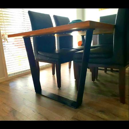 Custom Table Legs in Powder Coated Aluminium