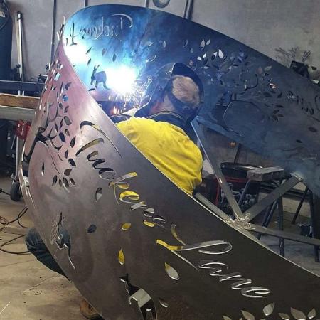 Custom Tucker's Lane Fire Ring Fabrication