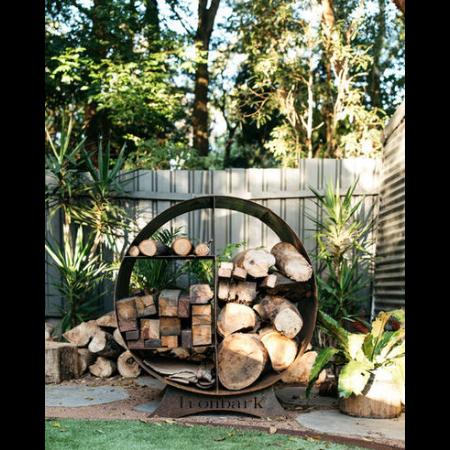 Large Fire Wood Stacker in Steel