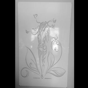 Mystic Lady Wall Art in White Powder Coated Aluminium