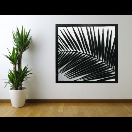 Palm Frond Wall Art in Powder Coated Aluminium