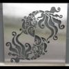 Pisces Wall Art in Silver Powder Coated Aluminium