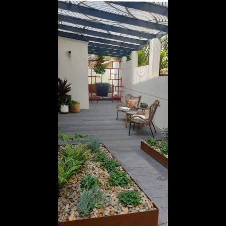 Raised Corten Steel Garden Beds