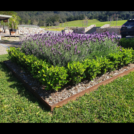 Raised Corten Steel Garden Edging- Shoalhaven