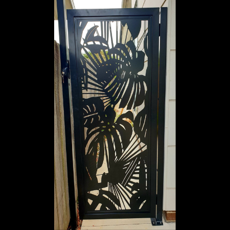 Security Gate with Tropical Pattern