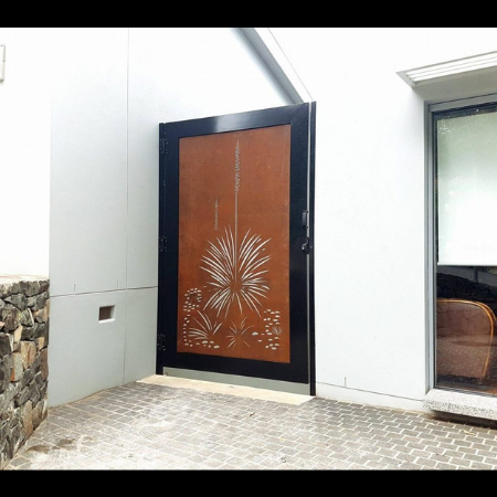 Security Gate with Xanthorrhoea Pattern