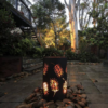 Small Round Fire Pit with Grevillea Pattern
