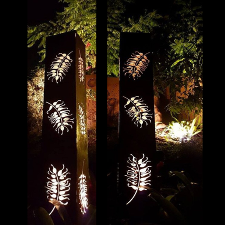 Square Light Tower with Grevillea Pattern