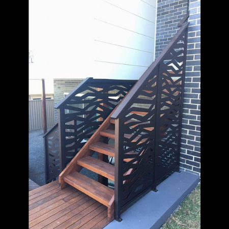 Stair Balustrade with Ribbons Pattern