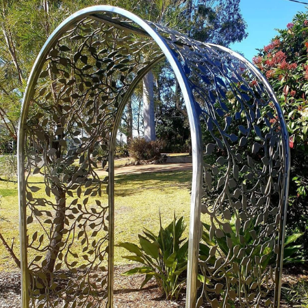 The Arbour with Vines Pattern in Steel