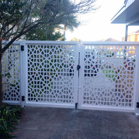 Vehicular Gate with Moroccan Pattern in Powder Coated Aluminium