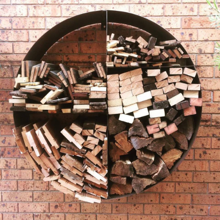 Wall Mounted Log Rack in Steel