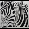 Zebra Abstract Wall Art in White Powder Coated Aluminium