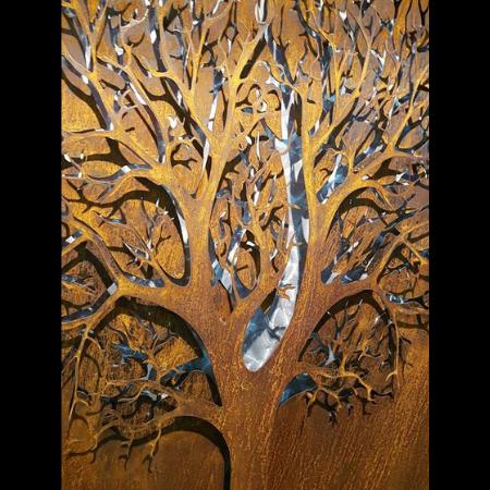 3D Autumn Tree Decorative Screen