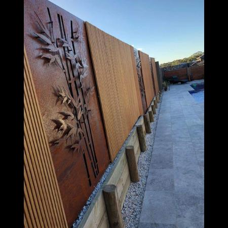3D Bamboo Decorative Screen in Steel