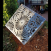 Cubism Sculpture with Fireworks Pattern