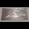 Fig Tree Decorative Screen in Burnished Copper Powder Coated Aluminium
