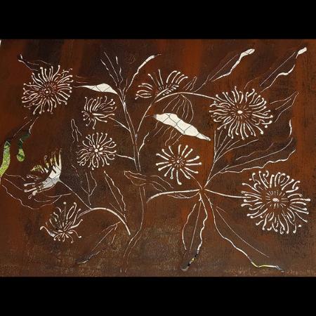 Firewheel Decorative Screen with Frames