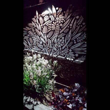 Floral Fresco Decorative Privacy Screen