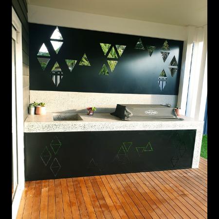 Geometric Pattern BBQ Area Decorative Screens