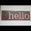 Hello Sign Rusted Steel