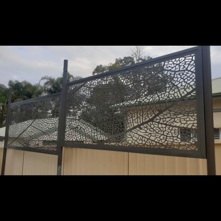 Leaf Vein Pattern Decorative Screen Fence Topper