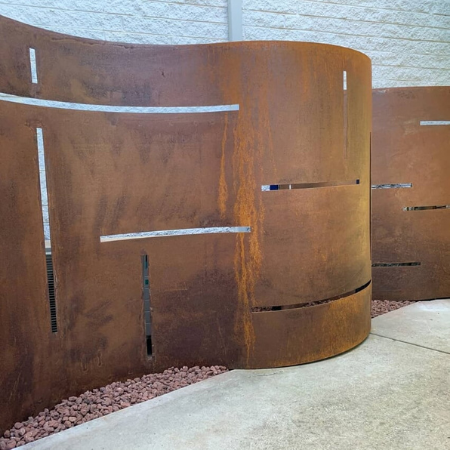 Rusted & Rolled Decorative Screen