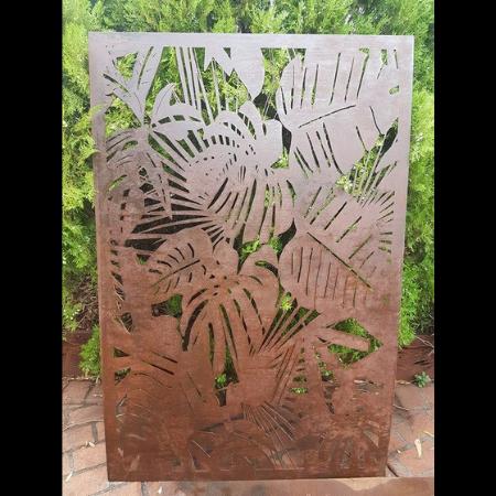 Tropical Pattern Decorative Screen in Steel