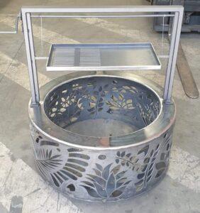 Argentine BBQ Attachment & Double Skin Round Fire Pit