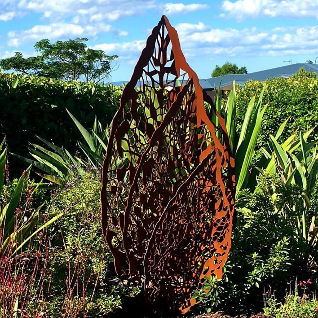 Triple Leaf Sculpture